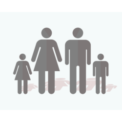 simple family and shadow