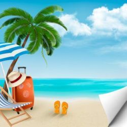 depositphotos 43860169 stock illustration beach with palm trees and 1