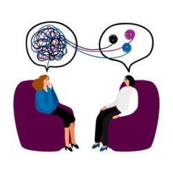 104067840 psychotherapy concept illustration